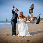 Mariage pays basque photo de couple hendaye plage